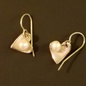 Real Silver, Real Pearl Earrings